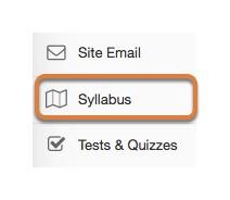 Accessing the Syllabus tool