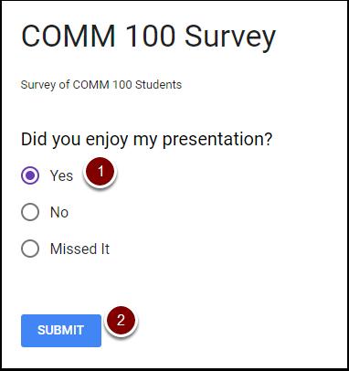 Embedded survey testing