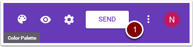 Google Form SEND button