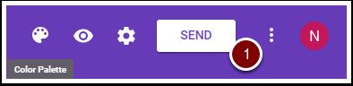 Google Form SEND button