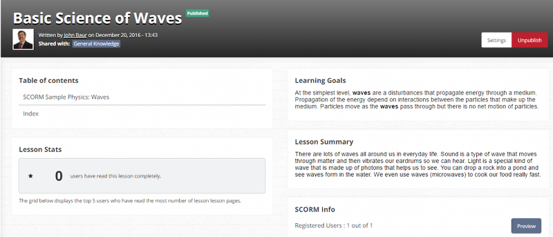 5. What is a SCORM lesson?