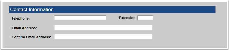 Contact Information fields