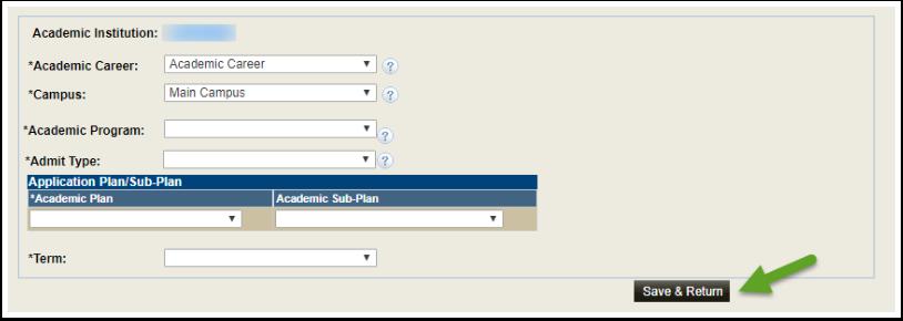Academic Information fields
