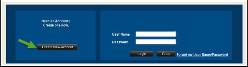 Create New Account button