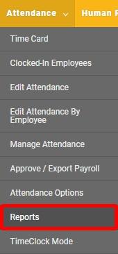 Run an attendance report.