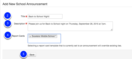 Add a school announcement to secondary report cards illuminate 2 give the announcement a title maxwellsz