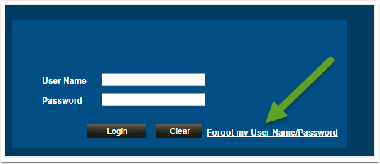 If you Forgot myUser Name/Password link