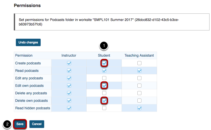 Modify the student tool permissions.