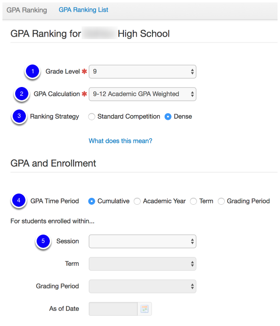 Run And Store GPA Rankings By Grade Level Or Calculation For Different Timeframes Grading Periods
