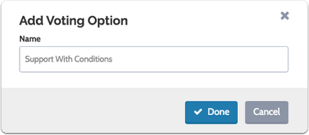 """Enter the new option and click """"Done"""" to save"""