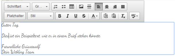 Schritt 2b: Rechnung gestalten