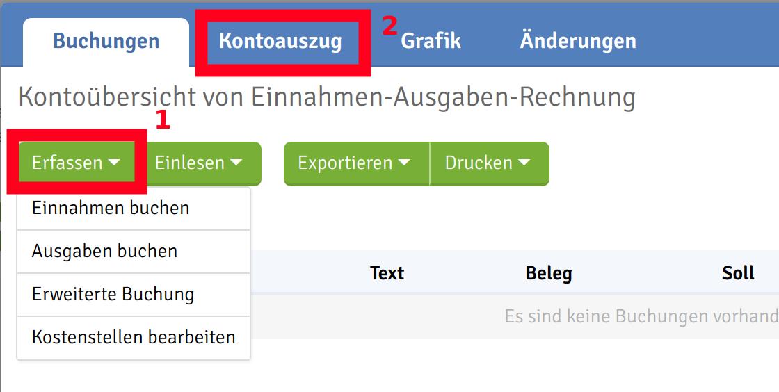 Einnahmen-Ausgaben-Rechnung (Milchbüchlein) – Webling Support