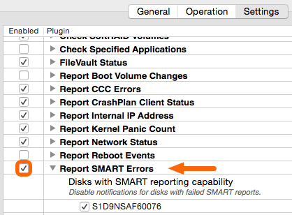 Mac - Report SMART Errors