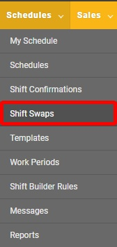 "Accept or decline swaps from the ""Shift Swaps"" page."