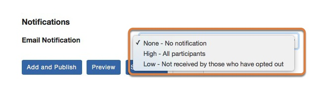 Select the notification options