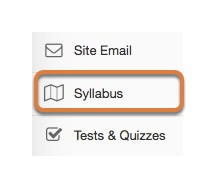 Accessing the Syllabus tool