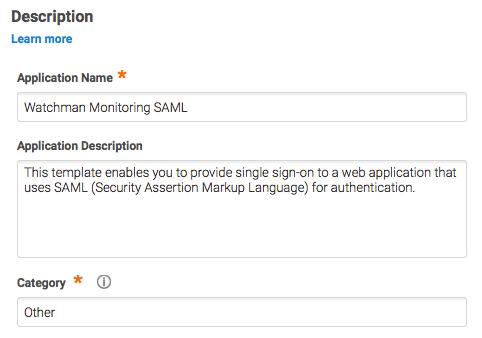 Centrify SAML App Configuration