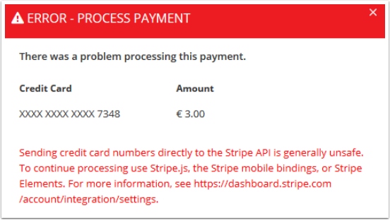 Stripe Error -