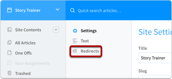 Select Redirects