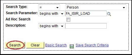Search Type field