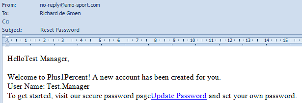 User Name and Password Generation