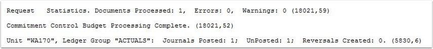 Posting Log File