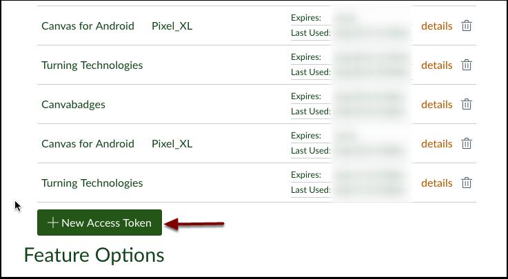 Select New Access Token