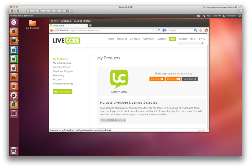 Download LiveCode From Your Store Account