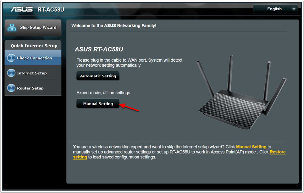 chose a new username login name and password for logging into the asus device and click next