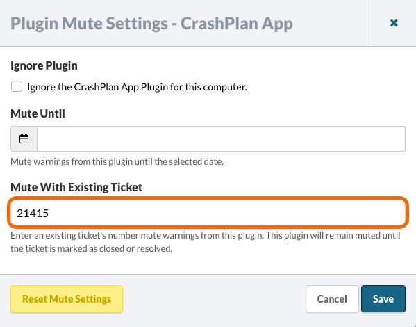 Plugin Mute Settings
