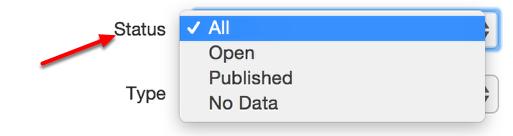 Optional Filter: Status