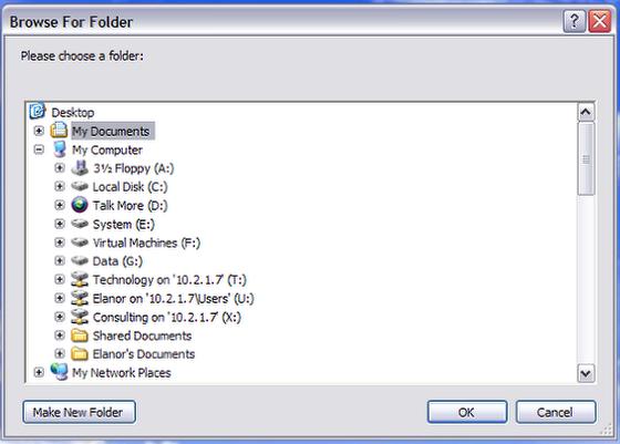The Answer Folder Dialog