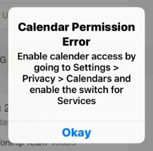 calendar permission