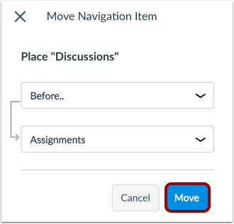 Move Navigation Item