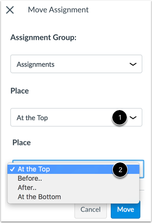 Place Assignment