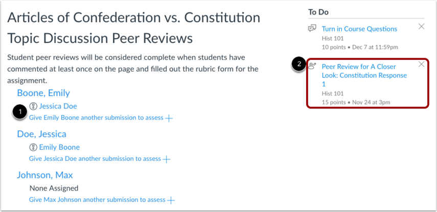 View Peer Review Discussions