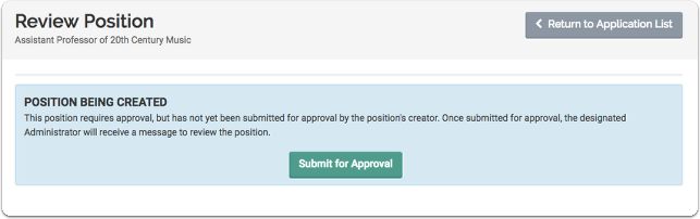 You may need to submit your positon for approval by an administrator before it can be published