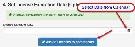 Set the expiration date (Optional).