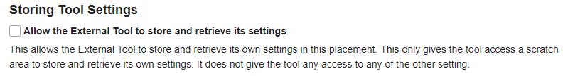 Storing Tool Settings. (Optional)