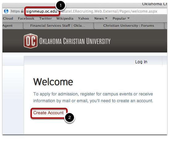 Create Applicant Account