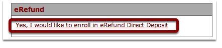 Find eRefund Link