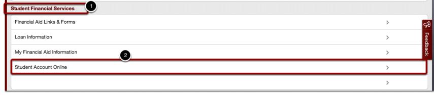 "Find ""Student Account Online"""