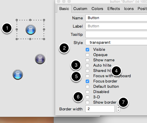 Finish by making the button a 'transparent'