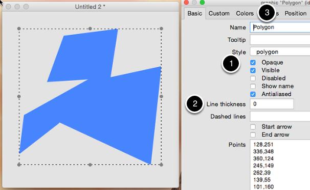 Setup the polygon