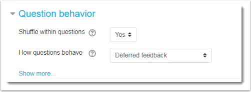 Adjust the Question behavior settings.