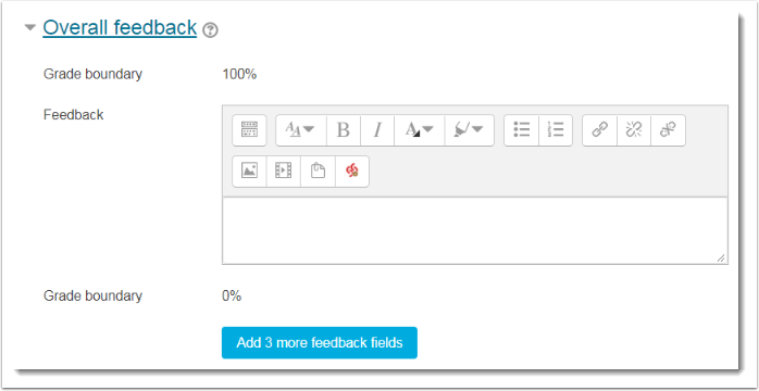 Adjust the Overall feedback settings.