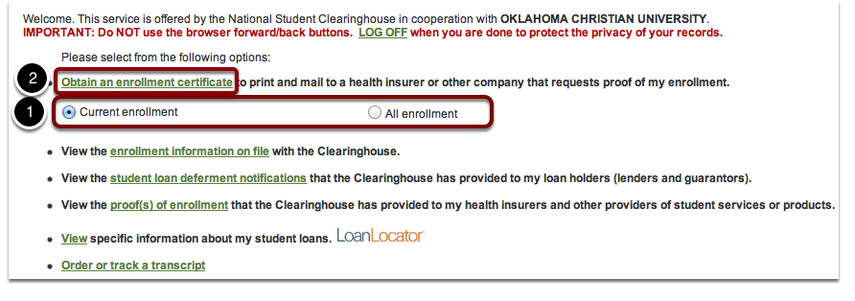 "Click the link that says ""Obtain an enrollment certificate."""