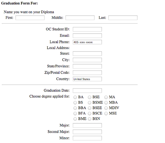 Complete and Submit Form