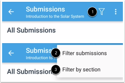 Filter Submissions