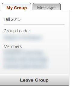 How do I change the leader or leave a group?